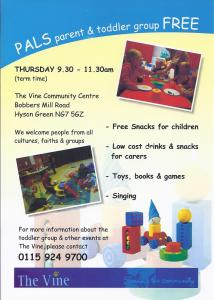 Parent and Toddler group (Term Time) @ Main Hall - Vine Community Centre | Nottingham | United Kingdom